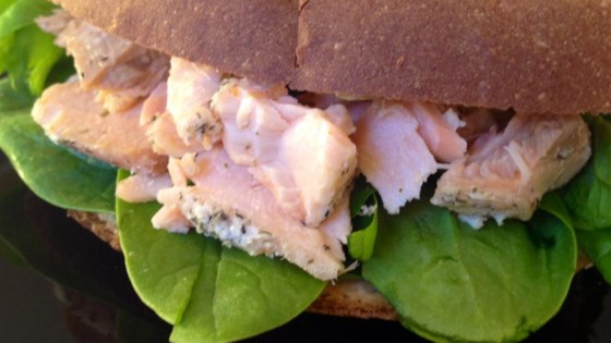 Photo of Simple Salmon and Spinach Sandwiches by Tracy X