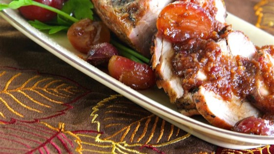 Pork Tenderloin with a Honey Grape Sauce