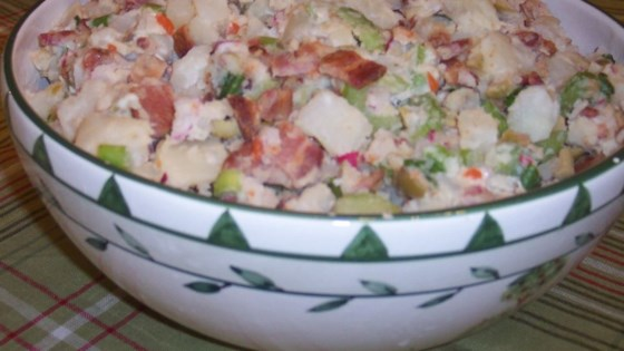 Photo of Potato Salad With Bacon, Olives, and Radishes by Lawrence  Fay