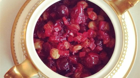 Photo of Cranberry, Apple, and Fresh Ginger Chutney by foodelicious