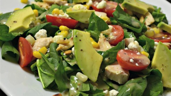 Photo of Spinach Salad with Chicken, Avocado, and Goat Cheese by zip3334116