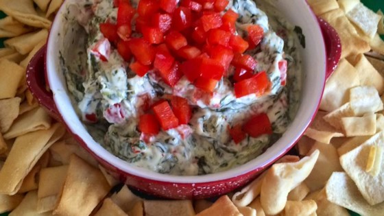 Photo of Hot Spinach Red Pepper Dip by Becky | The Two Bite Club