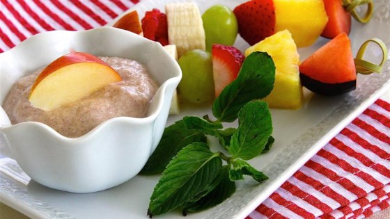 Photo of Fruit Skewers with Apple Cinnamon Dipping Sauce by lutzflcat