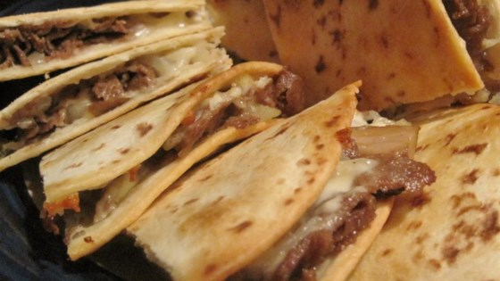 Philly Cheesesteak Quesadillas Recipe Allrecipes Com