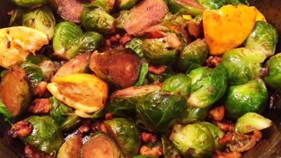 Photo of Browned Brussels Sprouts with Orange and Walnuts by Always Cooking Up Something
