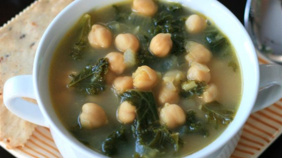 Photo of Vegan Kale and Chickpea Soup by rgansle