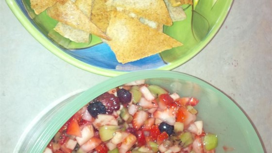 Photo of Fruit Salsa and Cinnamon Chips by Inspired by Home Cooks