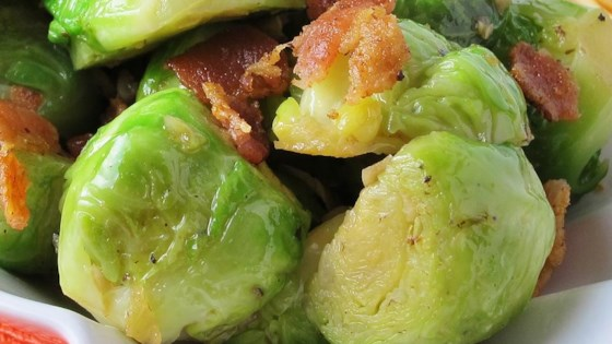 Photo of Sauteed Brussels Sprouts with Bacon and Onions by Maduckie123