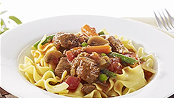 Photo of NO YOLKS® Easy Slow Cooker Beef Noodle Stew by NO YOLKS® Noodles