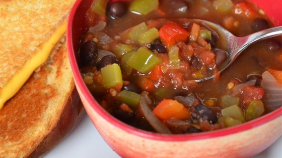 Photo of Easy Vegan Black Bean Soup by rtyoumans