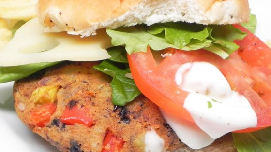 Photo of Black Bean and Potato Veggie Burgers by Kim