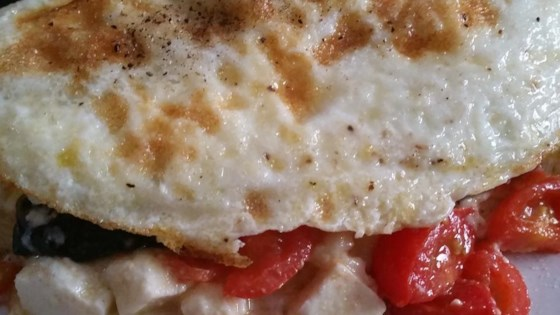 Photo of Spinach, Tomato, and Feta Egg White Omelette by patnodes
