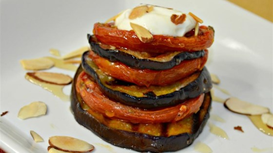 Photo of Roasted Eggplant and Tomato Towers by Ginger21
