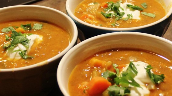 Photo of Sweet Potato, Carrot, Apple, and Red Lentil Soup by zhidaoma