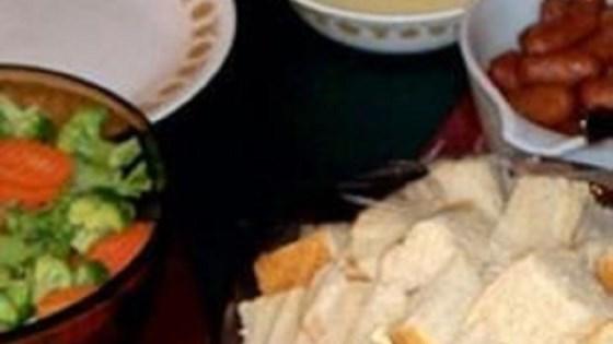 Baby Swiss Cheese Fondue