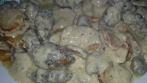 Photo of Kifta and Potatoes with Tahini Sauce by leggett