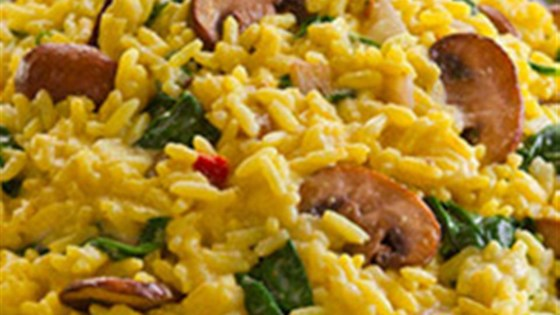 Photo of Creamy Spinach & Mushroom Risotto by Zatarain's