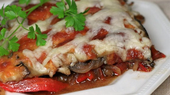 Eggplant and Red Pepper Bake