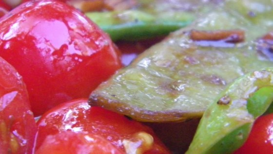 Photo of Cherry Tomato Snap Peas by raebro