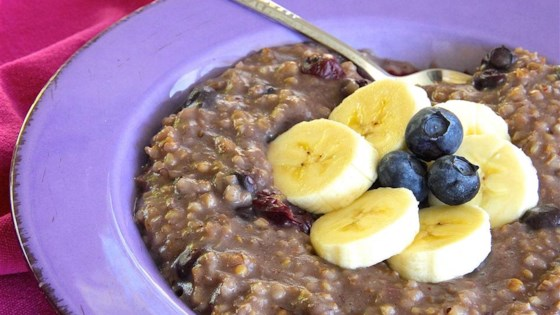 Photo of Blueberry and Banana Steel Cut Oats by Tyler Charette
