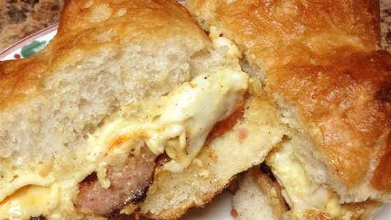 Photo of Hot Smoked Sausage and Cheese Sandwich by Jacolyn