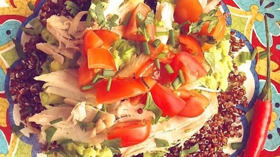Cold Chicken Quinoa Avocado Salad