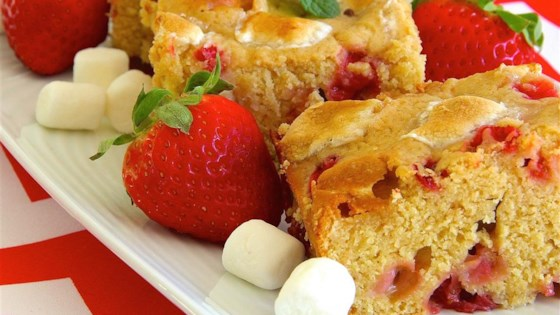 Photo of Strawberry-Marshmallow Blondies by Experimenter