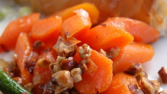Spectacular Marsala Glazed Carrots with Hazelnuts