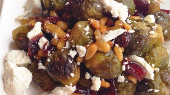 Photo of Balsamic Brussels Sprouts with Feta Cheese and Walnuts by Raechel Valerius