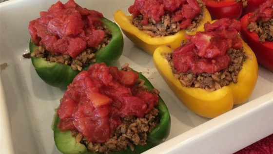 Photo of Bison and Brown Rice Stuffed Peppers by katanity