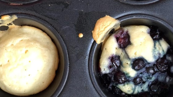 Photo of Dairy-Free, Oven-Baked Blueberry Pancake Muffins by IowaEats