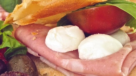 Photo of Sea Salt and Rosemary Pizza Bianca Bites with Mortadella and Mozzarella by Kim's Cooking Now!