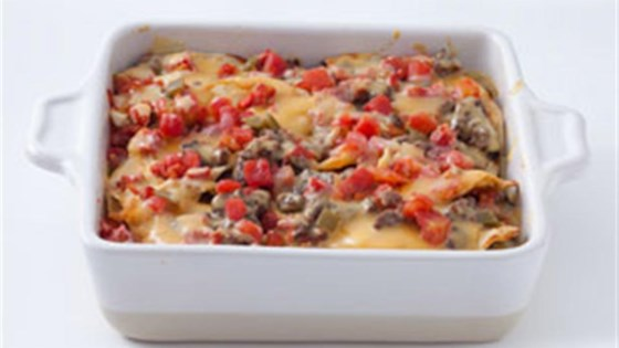 Photo of Beef Enchilada Bake by VELVEETA Cheese