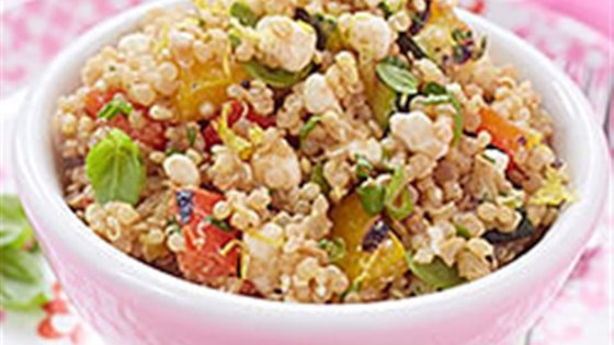 Quinoa Salad with Grilled Vegetables and Cottage Cheese