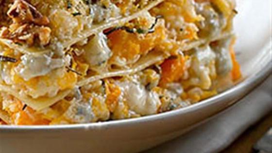 Roasted Butternut Squash Lasagna with Gorgonzola