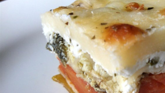 Photo of Roasted Vegetable Lasagna with Pesto Cream Sauce by JennaferPC