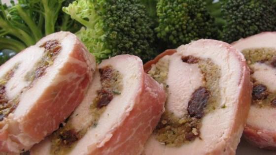 Prosciutto-Wrapped Cherry-Stuffed Chicken Breasts