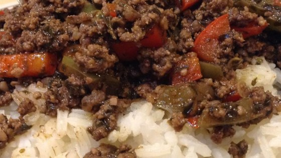 Photo of Asian Ground Beef and Pepper Saute by amanda1432