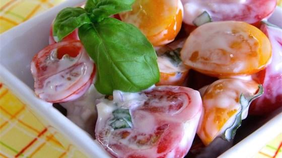 Red and Yellow Cherry Tomato Salad
