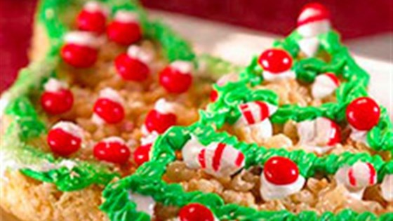 Photo of Trimmed Christmas Tree Treats™ by Kellogg's® Rice Krispies®
