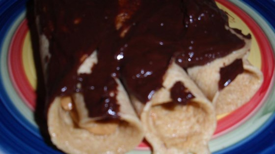 Photo of Peanut Butter-Filled Crepes with Warm Chocolate Sauce by Fanny Bay Gourmet