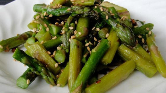 Photo of Stir-Fried Sesame Asparagus by Rhonda Holtz Hill