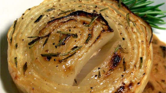 Onions Baked with Rosemary and Cream Recipe