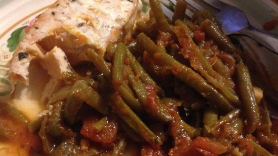 Photo of Grecian Green Beans in Tomato Sauce by Lori