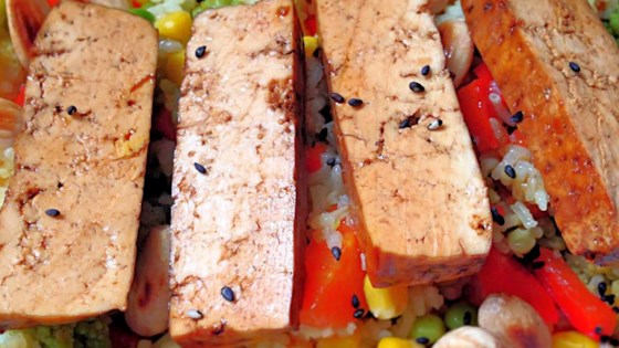 Photo of Baked Tofu Steaks by SlimCookins