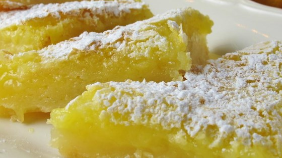 Luscious Lemon Triangles Recipe