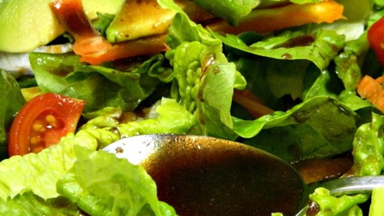 Photo of Raspberry Balsamic Vinaigrette Dressing by OldFashionedFoodie