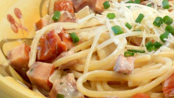 Photo of Easy Smoked Salmon Pasta by Rosie Liao