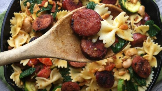 Photo of Smoked Sausage, White Bean and Spinach Pasta by Hillshire Farm® Brand