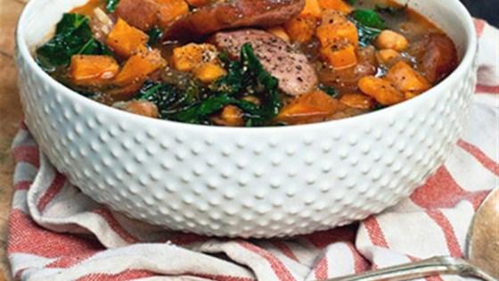 Smokey Sausage, Kale & Sweet Potato Soup Recipe